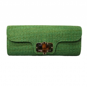 bamboo clutch green
