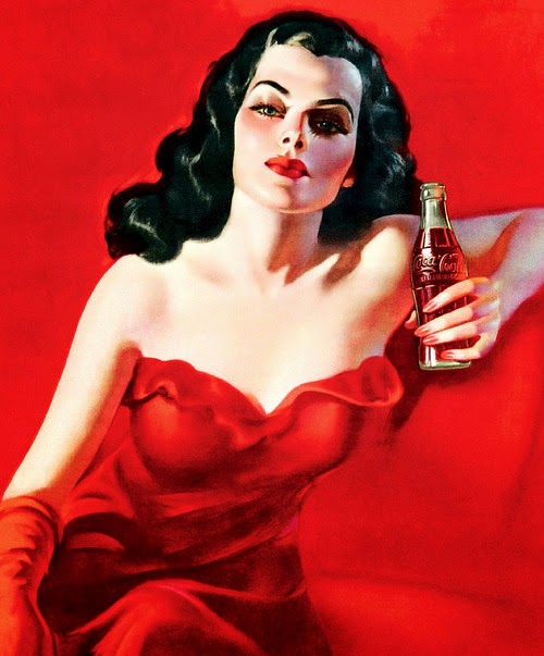 The lady in red!