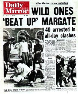 Daily Mirror front page - Wild Ones 'Beat Up' Margate