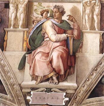 """Michelangelo's """"Prophet-Isaiah"""""""